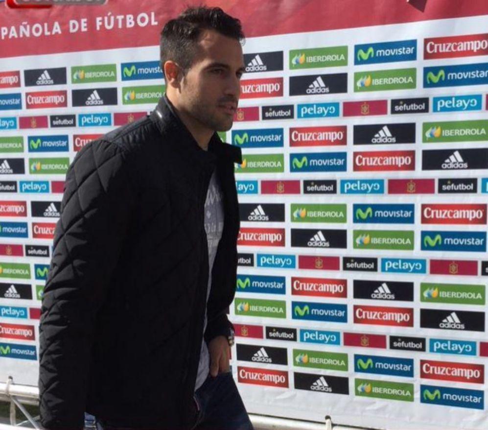 El debutante Mario Gaspar, jugador del Villarreal, en su primera...