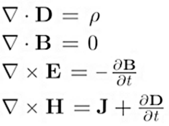 Resultado de imagen de Las ecuaciones de Maxwell del electromagnetismo