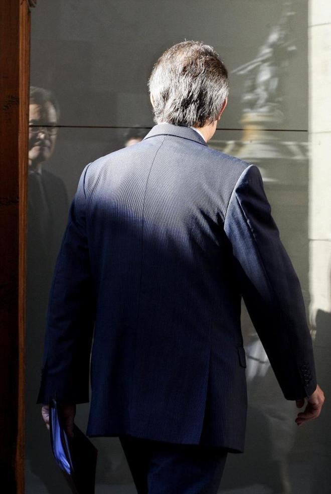 Artur Mas, ayer en el Palau de la Generalitat.