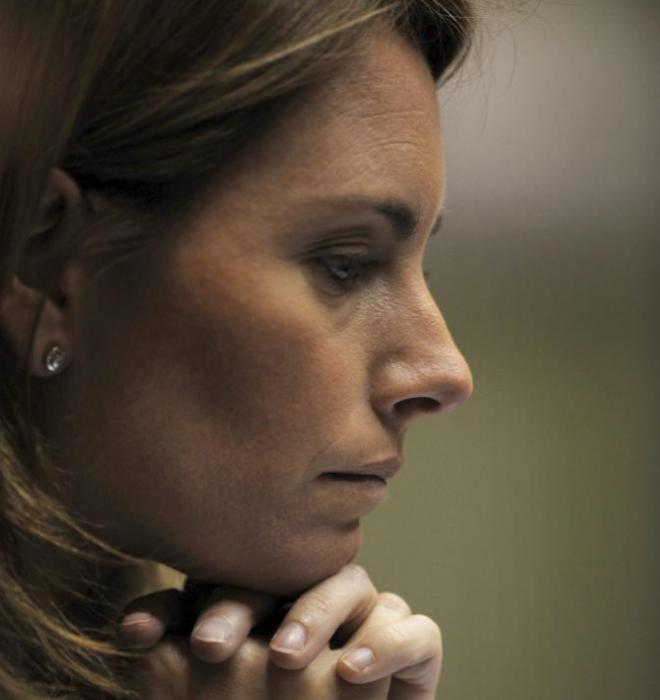 La presidenta del PP del País Vasco, Arantza Quiroga.