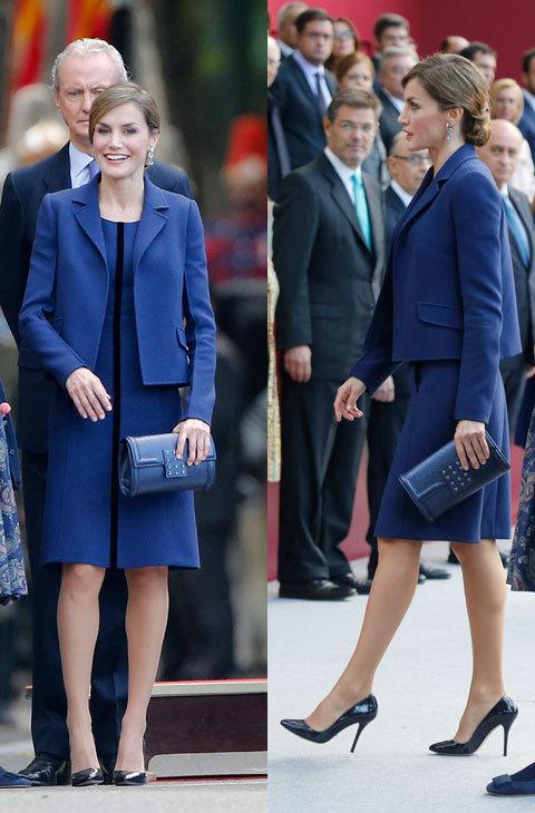 1c01b68d96 La Reina Letizia y sus 12 vestidos del 12 de octubre - Vestido ...
