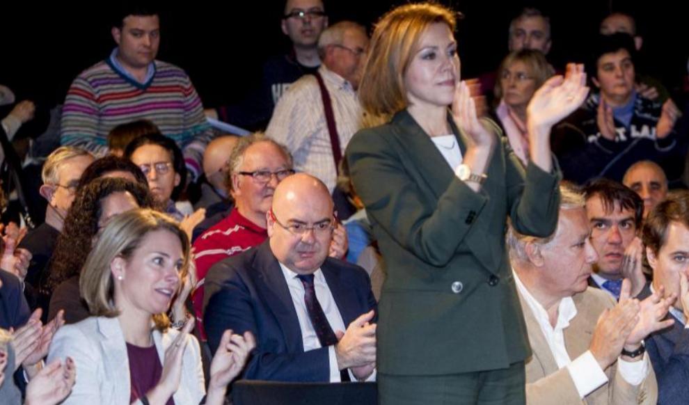 Arantza Quiroga y María Dolores de Cospedal, en un acto del PP el...
