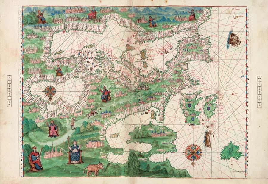 Atlas Vallard (Dieppe, 1547), el original se conserva en la Biblioteca...