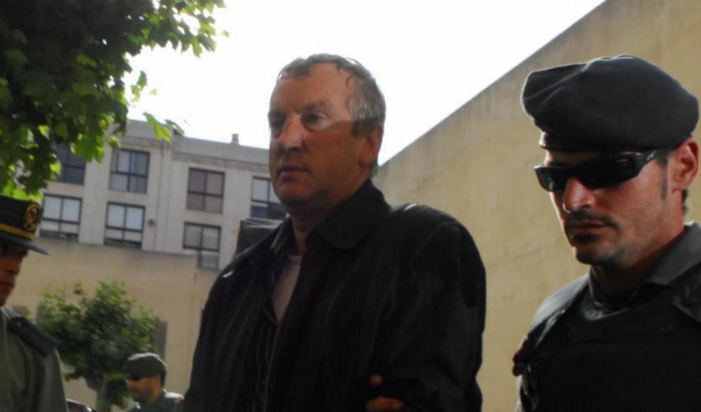 El acusado Gennadios Petrov, durante su detencion en Mallorca en 2008.
