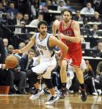Rubio, junto a Gasol, en un Timberwolves-Bulls en 2014.