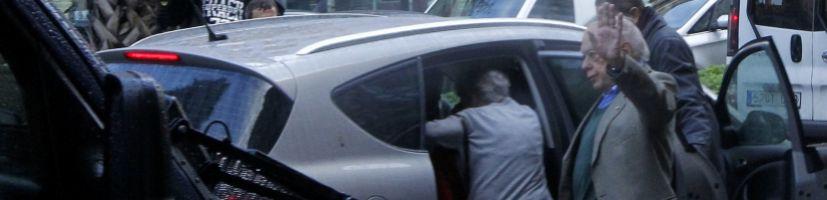 Jordi Pujol, esta mañana a la salida de su domicilio.