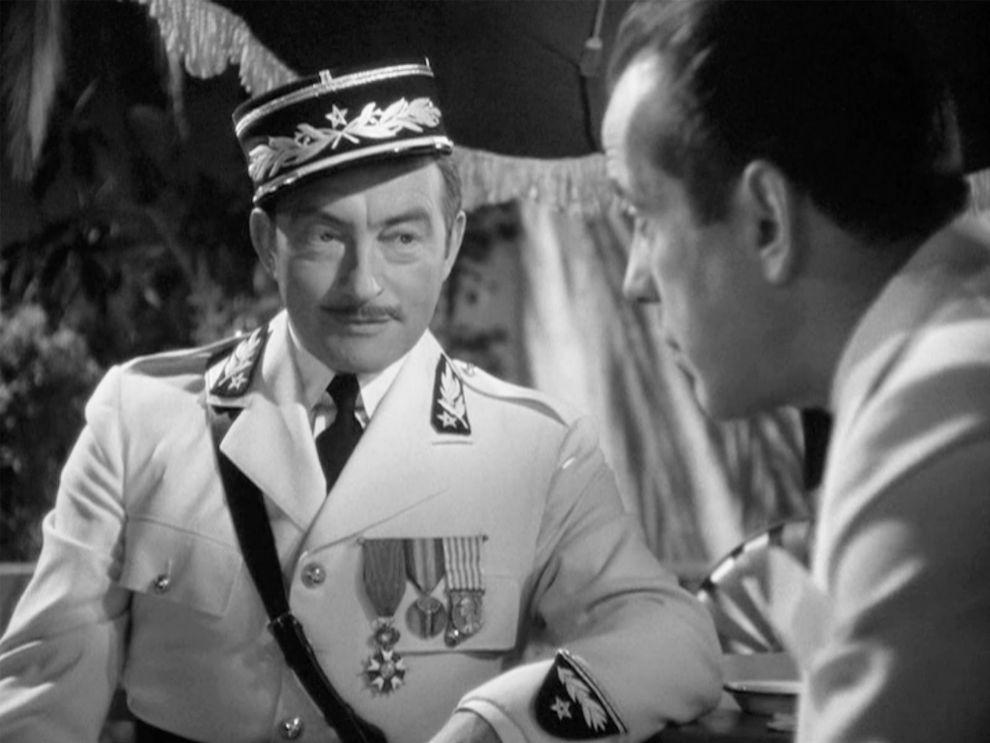 Louis Renault, Claude Rains en 'Casablanca' (1942). Nunca la...