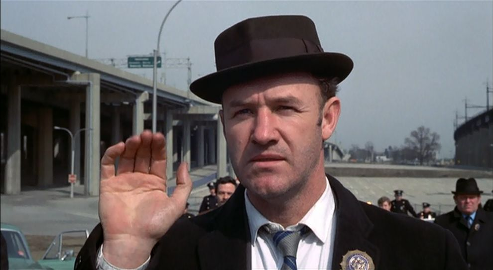 'Popeye' Doyle, Gene Hackman en 'The French Connection' (1971)...