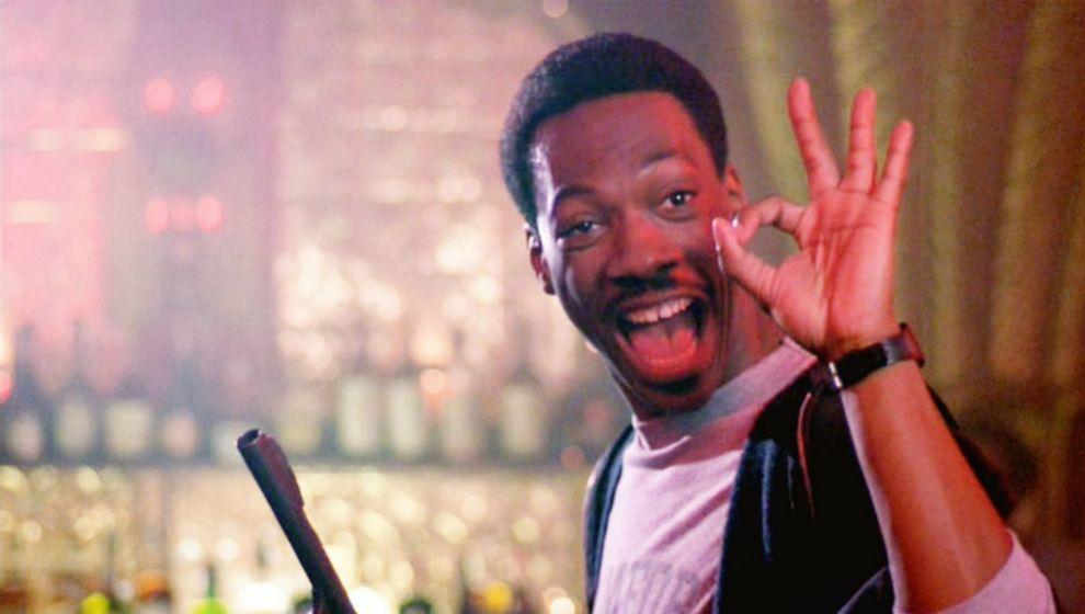 Axel Foley, Eddie Murphy en 'Superdetective en Hollywood' (1984)....