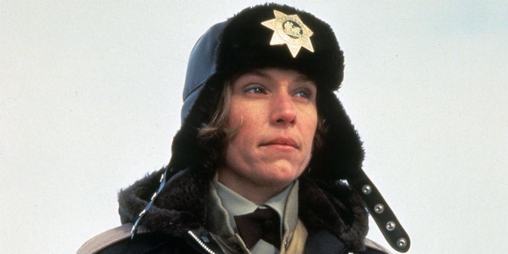 Marge Gunderson, Frances McDormand en 'Fargo' (1996). La embarazada...