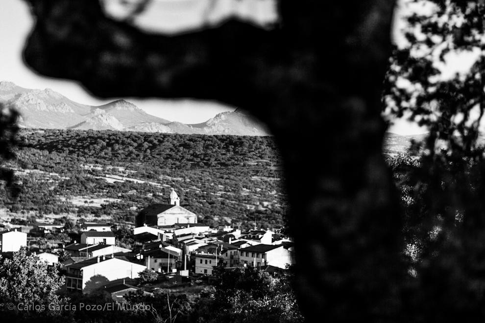 Vista del pueblo desde la loma que lleva a la Ermita de La Breña.