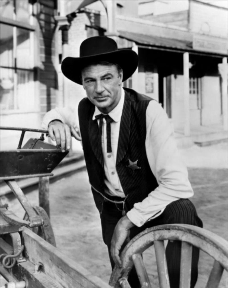 Will Kane, Gary Cooper en 'Solo ante el peligro' (1952). Al contrario...