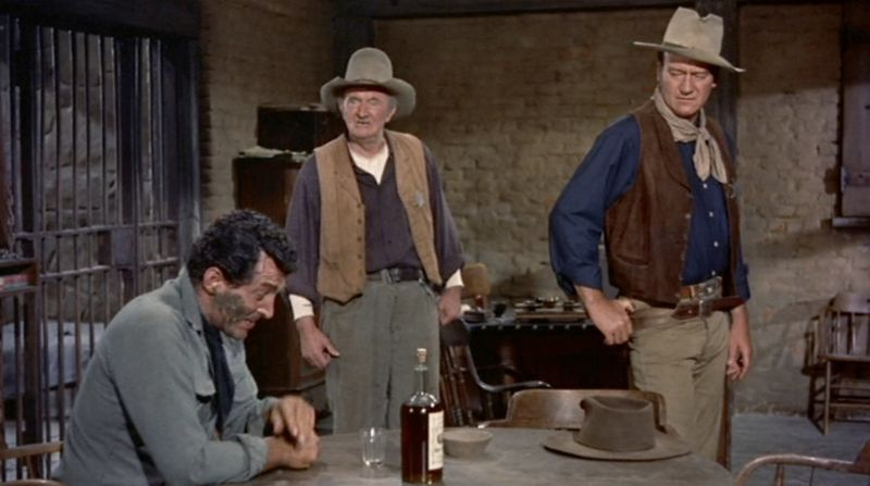 John T. Lance, John Wayne en 'Río Bravo' (1959). Un sheriff como Dios...