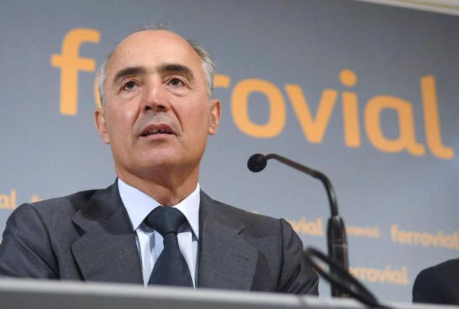 Rafael del Pino, consejero delegado de Ferrovial, durante una...