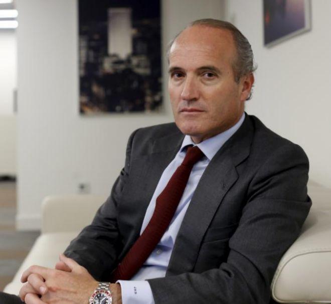 El presidente de Seopan, Julián Núñez, en un momento de la...