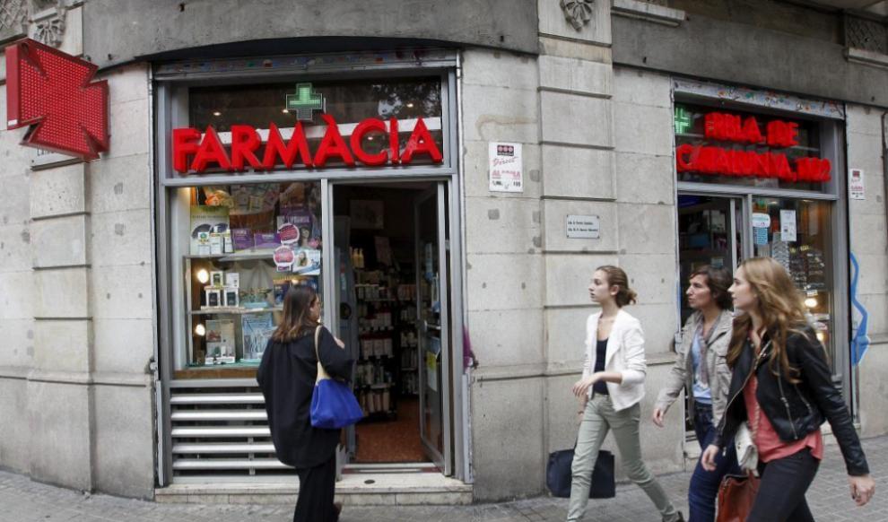 Una farmacia en el centro de Barcelona.