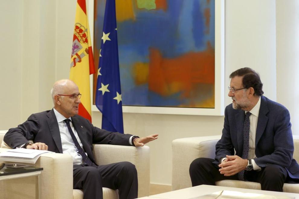 Mariano Rajoy y Josep Antoni Duran Lleida, ayer en Moncloa.