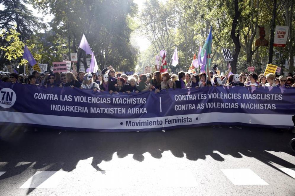 Arranca la multitudinaria marcha contra las violencias machistas en...