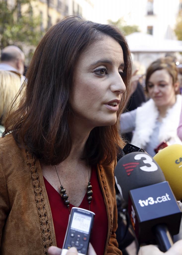 Andrea Levy ha acudido a la manifestación en representación del...