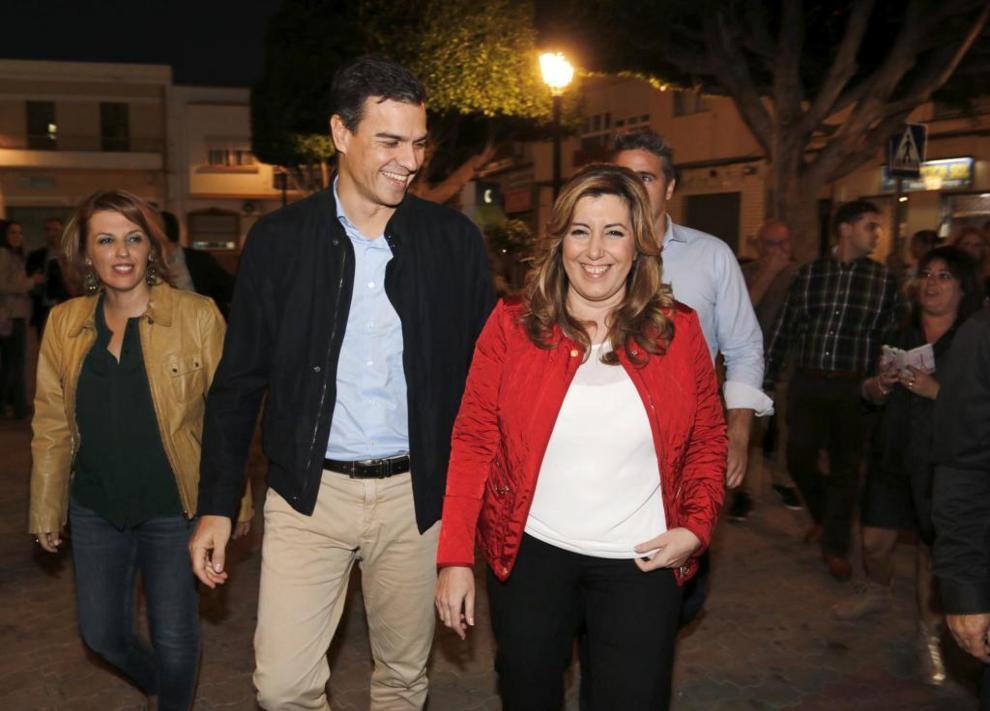 Pedro Sánchez y Susana Díaz, juntos en Viator.