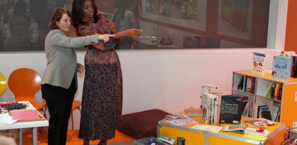 La primera dama de EEUU, Michelle Obama, estuvo el miércoles en Doha.