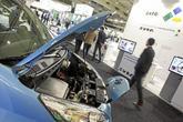 Un coche eléctrico en la pasada edición.