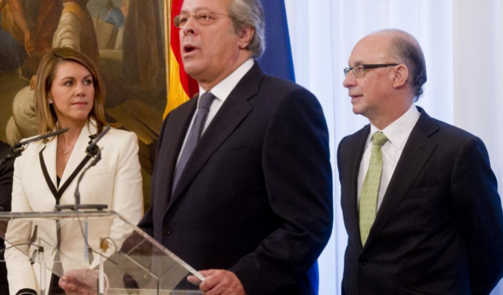 Ramón Aguirre el día que prometió su cargo como presidente de la...