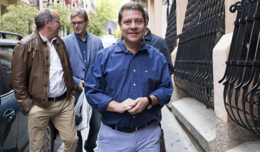 Emilano García-Page, el pasado octubre al dirigirse a la reunión de...