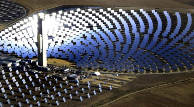 Planta fotovoltaica de Abengoa en Sevilla