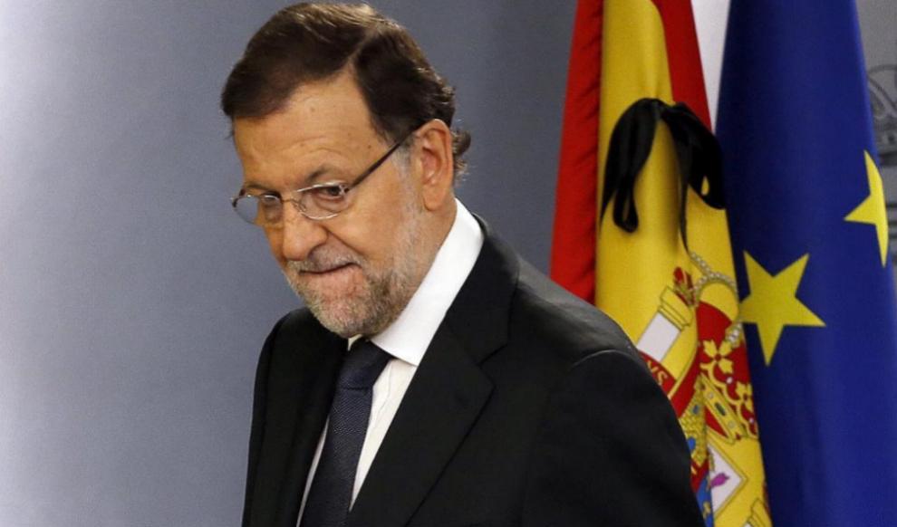 El presidente del Gobierno, Mariano Rajoy, durante su comparecencia de...