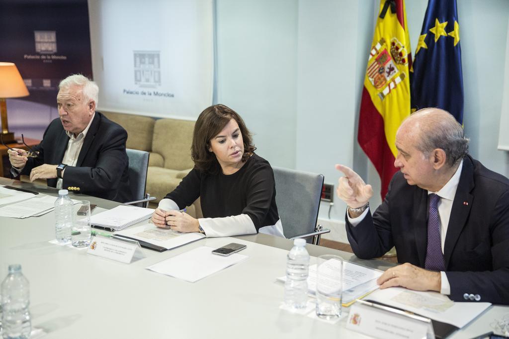 El ministro de Asuntos Exteriores, José Manuel García-Margallo, la...
