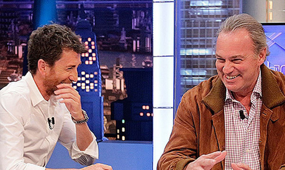 Pablo Motos, con Bertín Osborne, en 'El hormiguero'.