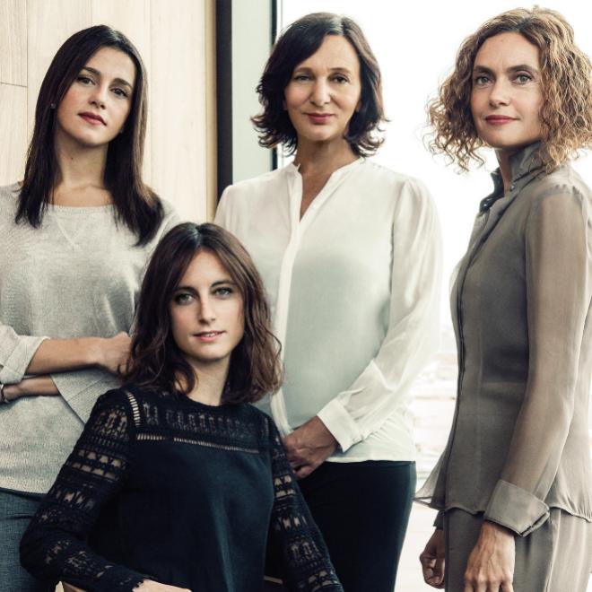De izda a decha: Inés Arrimadas, Andrea Levy, Carolina Bescansa y...