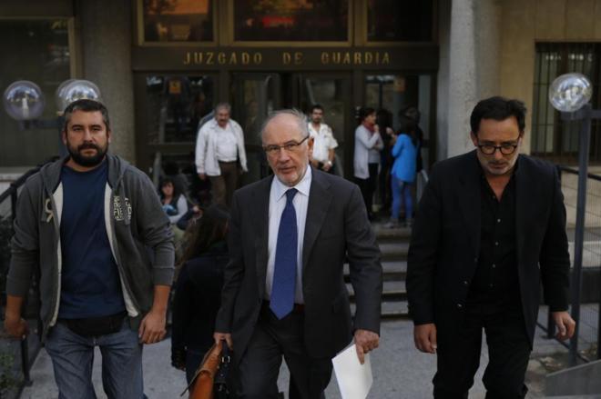 Rodrigo Rato a la salida del juzgado el pasado mes de octubre