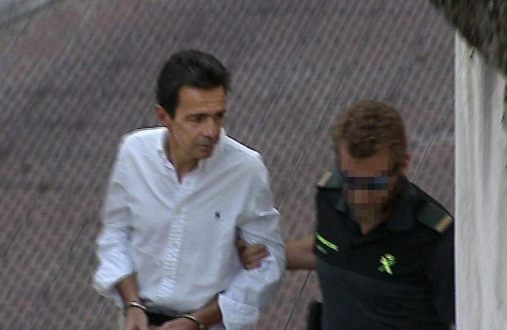 Alberto Portuondo llega a los Juzgados de la Plaza de Castilla el...