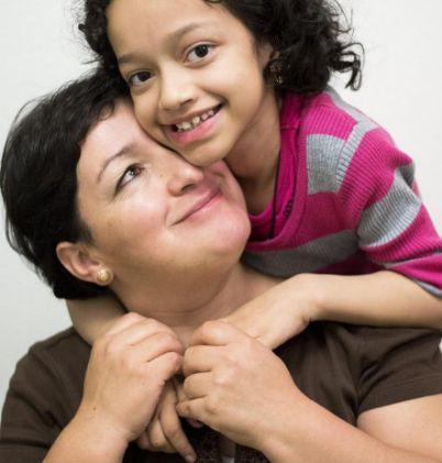 Auxiliadora y su madre, Beatriz Segarra.