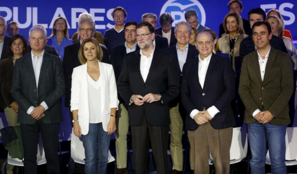 Mariano Rajoy, con los 'números uno' de las candidaturas del PP a las...