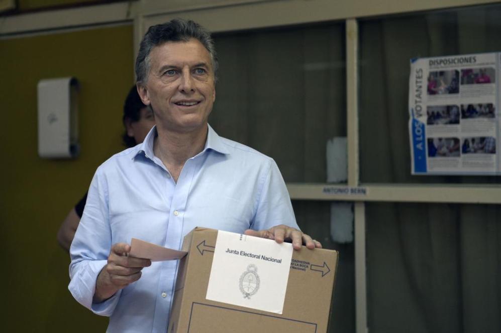 Mauricio Macri, candidato a la presidencia argentina por 'Cambiemos',...