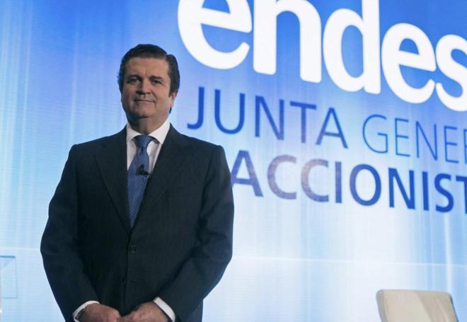 El presidente de Endesa, Borja Prado, durante la junta general de...