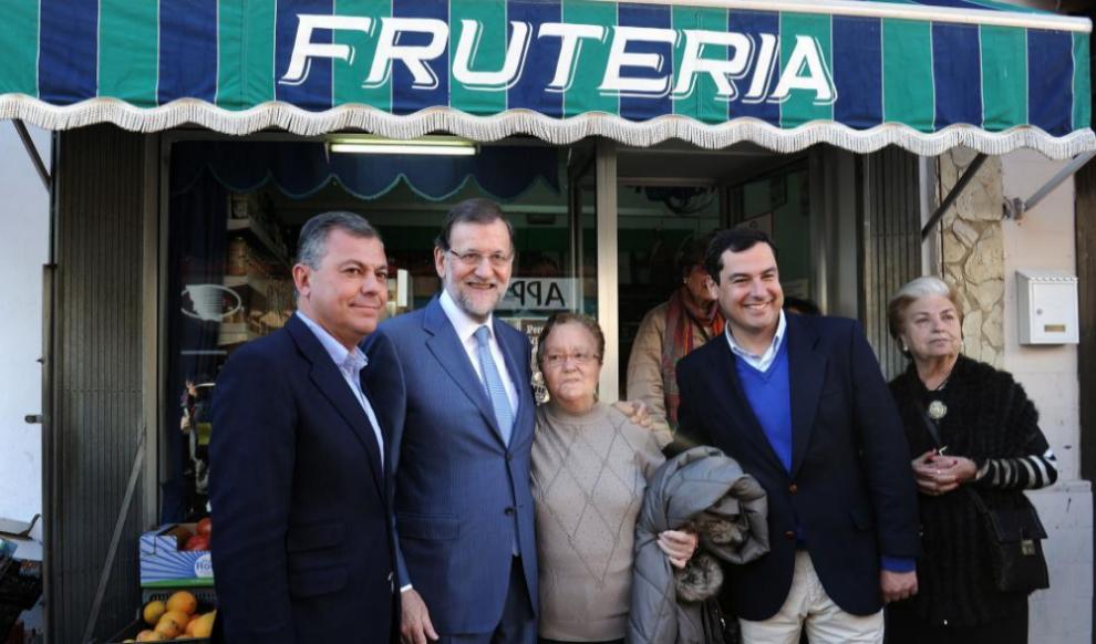 Mariano Rajoy, el martes en un acto en la localidad sevillana de...