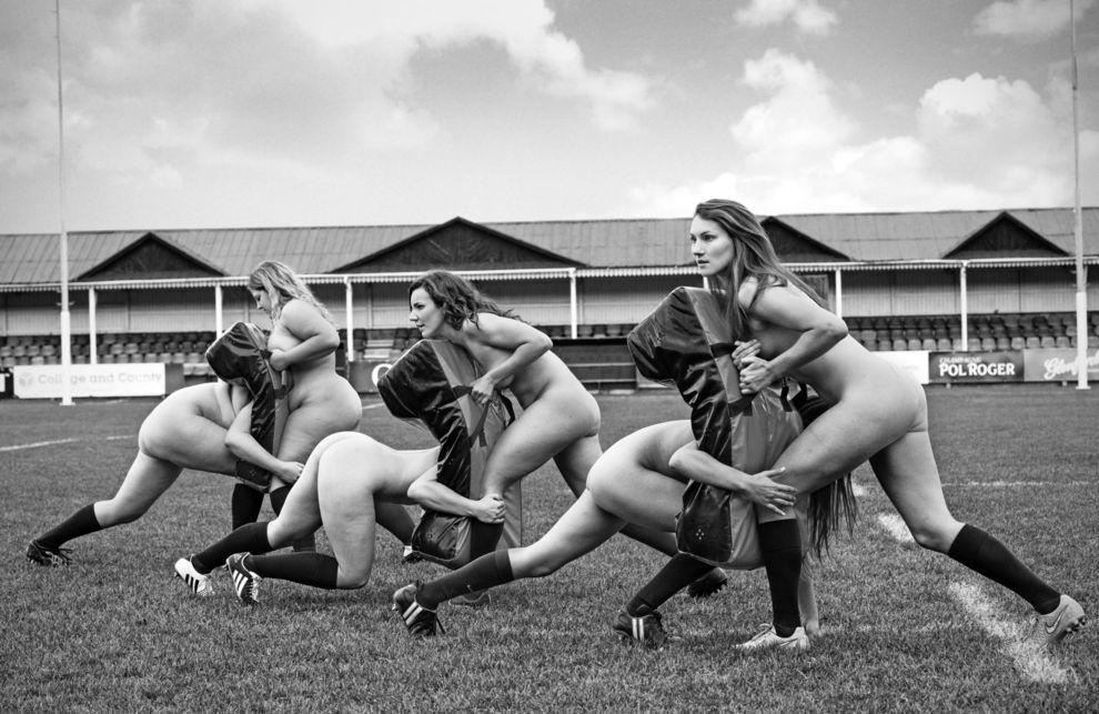 Femenino El Calendario Oxford Equipo De Rugby En Desnuda Se Un KlFJ1cT