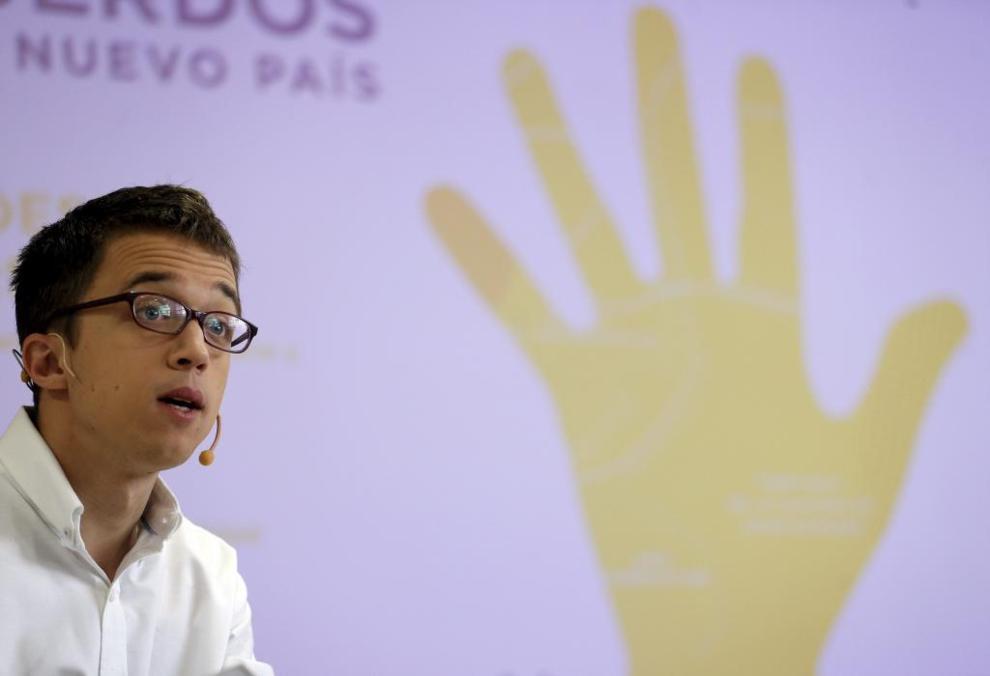 Íñigo Errejón presenta la campaña el pasado lunes en Madrid.