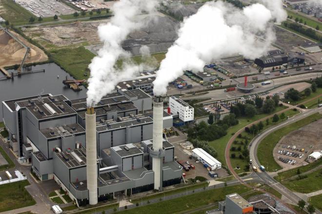 Vista aérea de la planta AEB de Ámsterdam