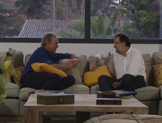 Bertín Osborne y Mariano Rajoy, durante la entrevista en 'En la tuya...
