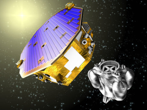 Recreación de la sonda 'LISA Pathfinder'