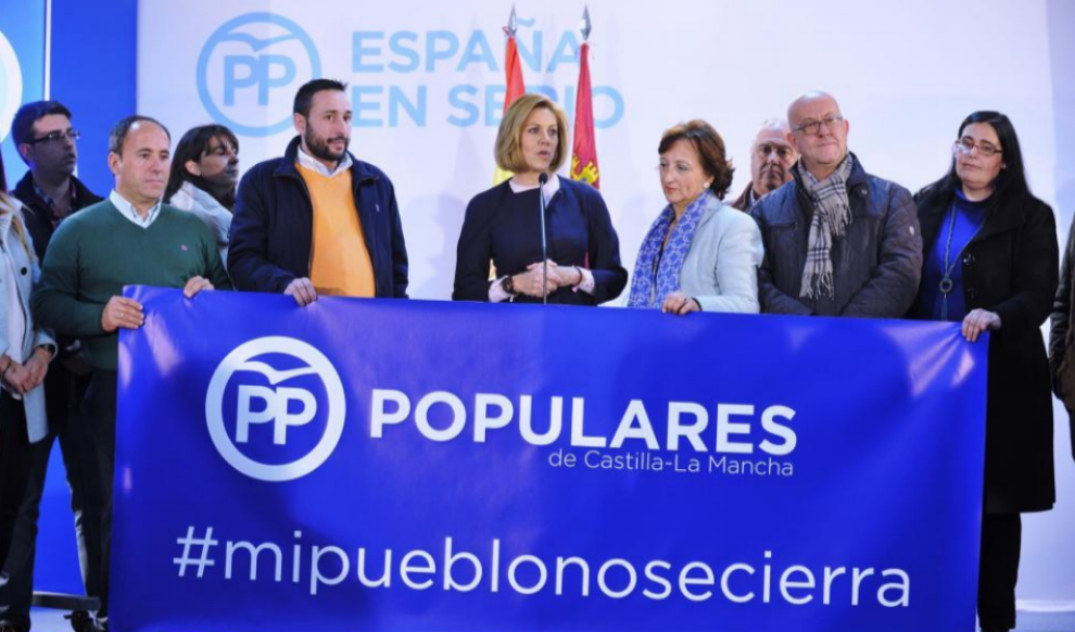 María Dolores de Cospedal, en un acto electoral en Guadamur (Toledo).