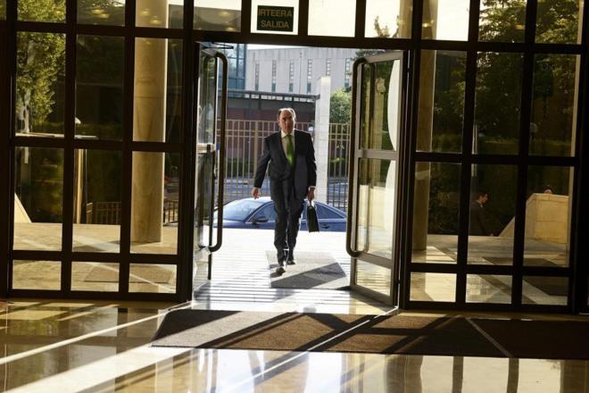Ignacio Sánchez Galán, presidente de Ibedrola, durante una visita...