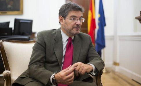 El ministro de Justicia, Rafael Catala, durante una entrevista en su...