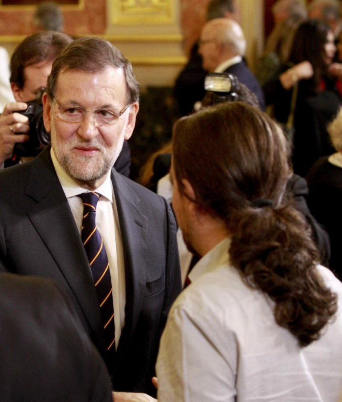 El presidente del Gobierno y candidato a la reelección, Mariano...