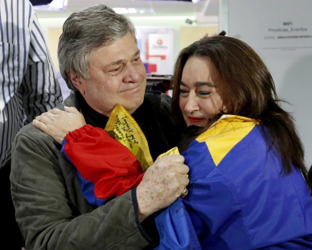 Leopoldo López, padre del preso político venezolano de igual nombre,...